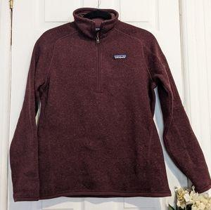 Patagonia Women's Better Sweater® 1/4-Zip Fleece Pullover Sweater Wine